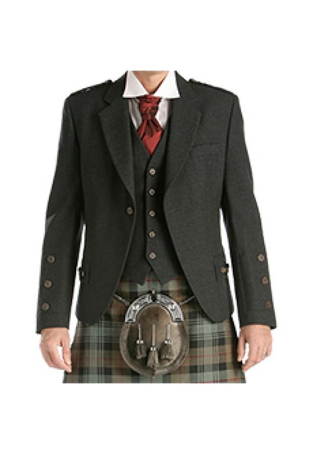 Charcoal Wool Crail Jacket & Waistcoat