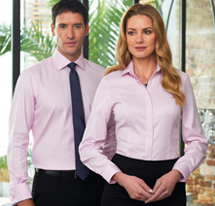 Brook Taverner models displaying contemporary corporate wear